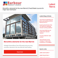 Monolithic elements for the new Marriot | Fixed Blade Louvres for major door distributor