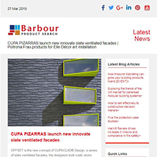 CUPA PIZARRAS launch new innovate slate ventilated facades |  Poltrona Frau products for Elle Décor art installation