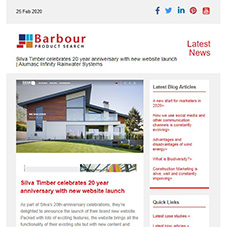 Silva Timber celebrates 20 year anniversary with new website launch | Alumasc Infinity Rainwater Systems