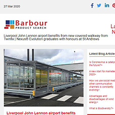 Liverpool John Lennon airport benefits from new covered walkway from Twinfix | Nexus® Evolution graduates with honours at St Andrews