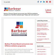 Barbour Product Search announces new CPD Accreditation programme | Hamilton Litestat says Keep calm and carry on!