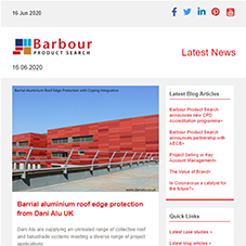 Barrial aluminium roof edge protection from Dani Alu UK | EcoCooling solution to help prevent Covid-19 spread at Ely hospital