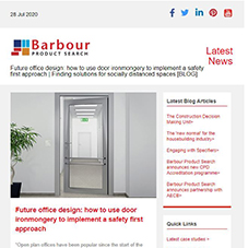 Future office design: how to use door ironmongery to implement a safety first approach |  Finding solutions for socially distanced spaces [BLOG]