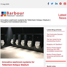 Innovative washroom systems for Tottenham Hotspur Stadium | Thoughts from lockdown [BLOG]