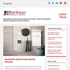 Haverland's stylish towel warmer, Hercules |  Non-Combustible Balcony Solution from EnviroBuild