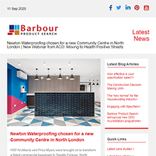 Newton Waterproofing chosen for a new Community Centre in North London |  New Webinar from ACO: Moving to Health Positive Streets