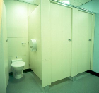 Harrogate Hospital, Yorkshire. Equinox cubicles and IPS pre-plumbed panels.