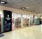 Birmingham International Airport, Birmingham. Installation of <I>Royal</I> tempered glass sliding closures.