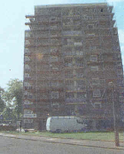 Liverpool Housing Action Trust tower blocks, Liverpool. Cavity wall stabilisation of tower blocks.