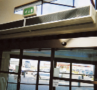 Dimplex air curtains