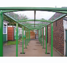 Cranford infant and nursery schools. Various size walkways.