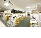 High Quality Furnishing Stores Graced with Rockfon Ceilings Both offering affordable prices!