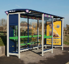 Queensbury's ZIP Bus Shelters for A3 Bus Priority Corridor