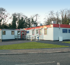 The modular GP's surgery building supplied by Wernick Hire