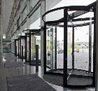 DORMA launches new revolving door with glass ceiling