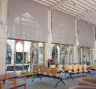 Faber Blinds MechoShade® solar shading installed in reception area at Northampton's Guildhall