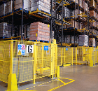 Troax's Smart Fix Fencing Isolates Crane Aisles at GlaxoSmithKline Warehouse