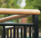Sapphire low maintenance wood-effect handrails