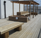 Timber decking using TD supports, Genesis Homes, London