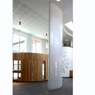 Encasement column casings at Moor Park Health Centre, Blackpool