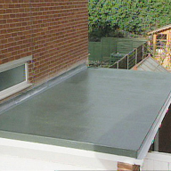 Domestic Garage Roof Refurbisment With Polyroof 185 Cold-applied Roof Membrane