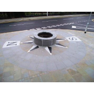 Forest of Dean supply bespoke stone compass to Blaenau Gwent Council