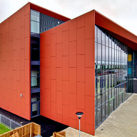 Rainscreen Cladding at Barrow Hall College, Cheshire.