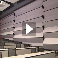 Skyfold Classic moving wall system at NIU