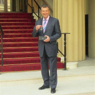 Roy Wakeman, OBE, receives the Queen's honour at Buckingham Palace
