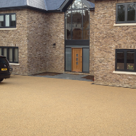 Cuffley Eco Home surrounded by  SuDS compliant surfacing