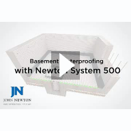 Newton System 500 Basement Waterproofing Video