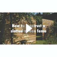 How to construct a slatted screen horizontal fence Video