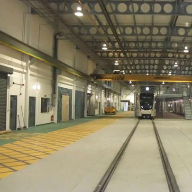 Slip resistant epoxy resin coating used at Gogar Tram Depot