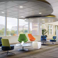 Curved and circular Axiom canopy systems have been launched by Armstrong Ceilings.