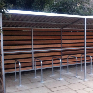 Bespoke Grasmere Cycle Shelter And Ulverston Umbrella at Tune Hotel, London