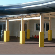 Park Community Primary School, Clwyd  received Tarnhow Mono Free Standing Canopy and Tarnhow Curved Free Standing Canopy