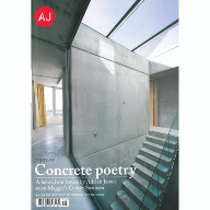 Glazing Vision on cover of AJ