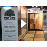 Wood Flooring Display at The Building Centre London