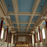 Pigmented acoustic plaster used at BMA Head Office