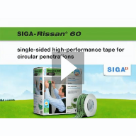 SIGA Rissan 60: Sealing the circular penetration airtightly