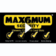 MAX6MUM SECURITY Door Viewers, Chains & Identity Card Slots