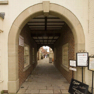 Cast stone archways used for new shopping development
