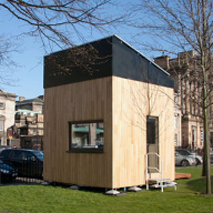 Vincent Timber provides eco-friendly English Sweet Chestnut cladding for the Cube