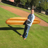 Western Red Cedar used to produce a surfboard