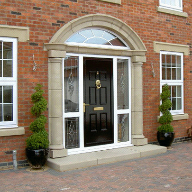 Cast stone feature door surround