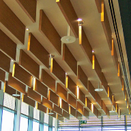 Acoustic Products supplies timber acoustic baffles to the 2012 Olympic Park