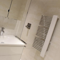 "Kermi Shower Enclosure And Designer Towel Rails – For Contemporary ""House By The Water"""