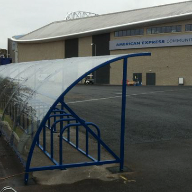 Toptech crescent cycle shelter for Brighton & Hove Albion FC