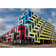 Vibrant student accommodation makes a statement with Trespa panels
