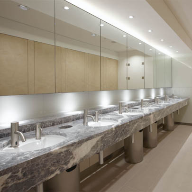 Glassolutions delivers washroom makeover with backpainted glass